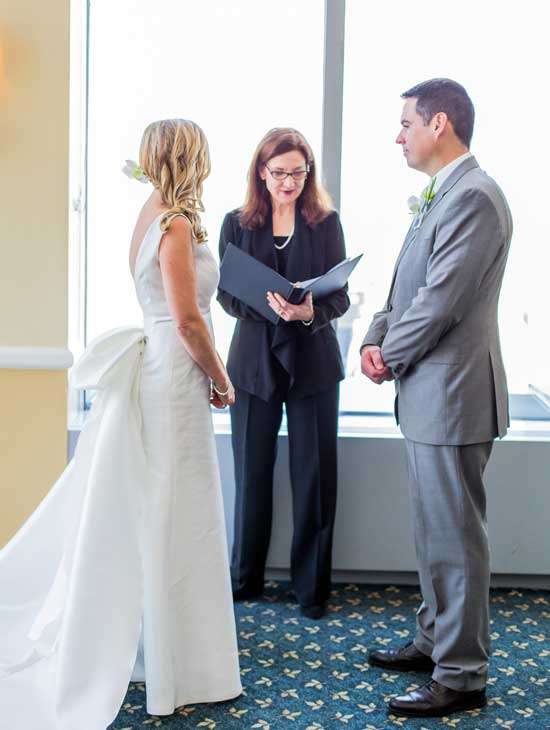 Hollis Payer wedding officient